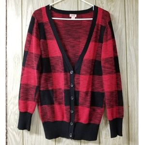 Mossimo Plaid Cardigan